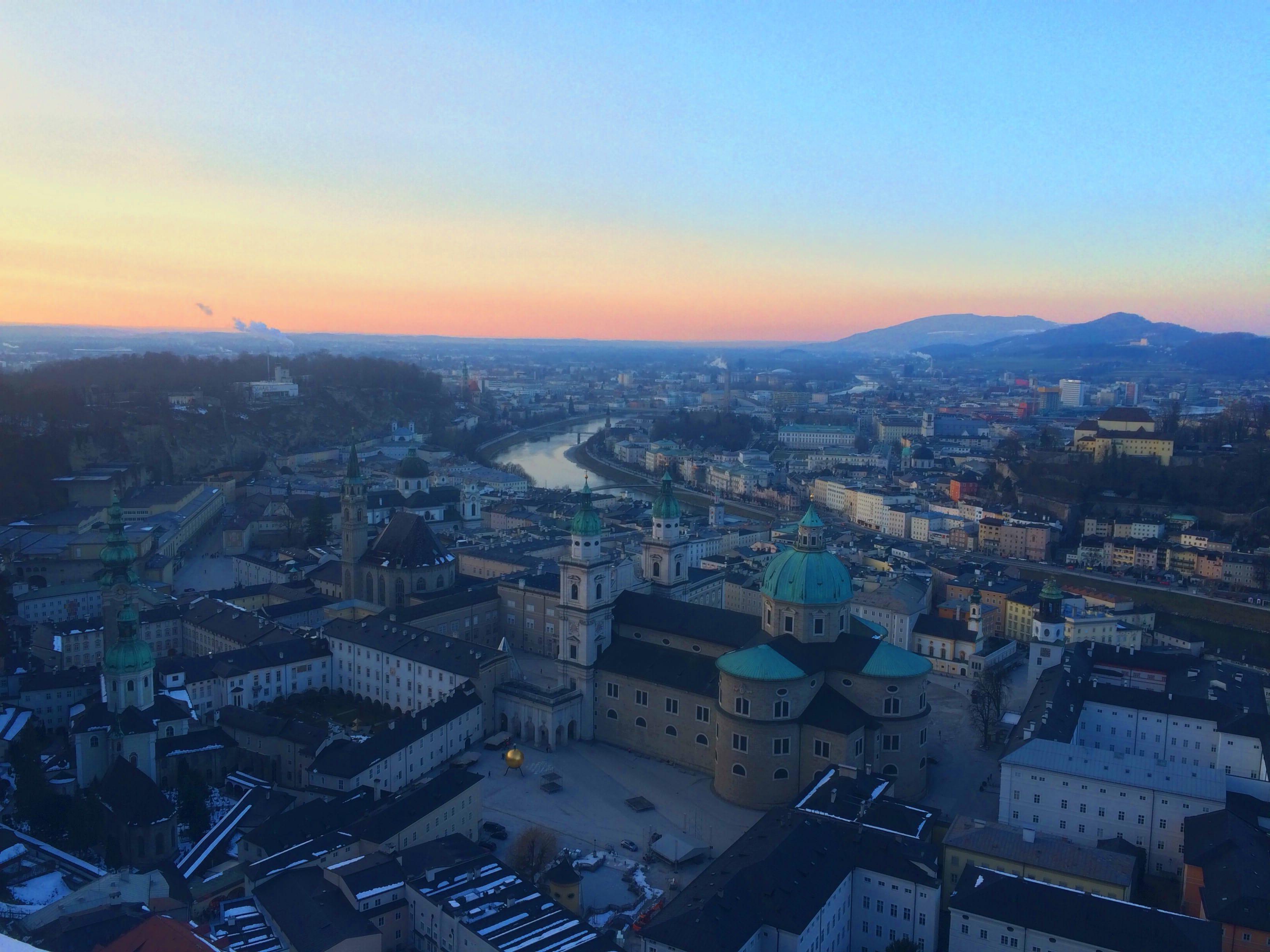 Abenddämmerung in Salzburg