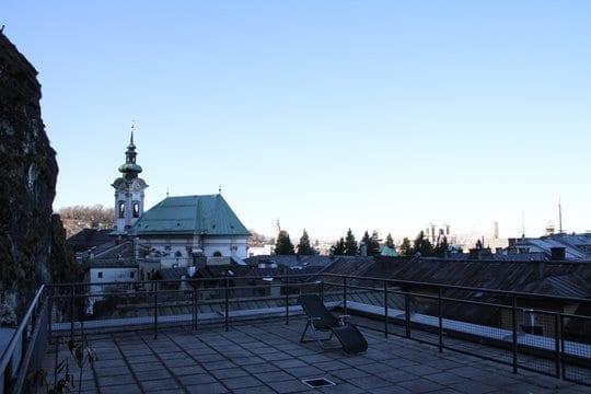Ausblick Dachterreasse Glockengasse auf Salzburg