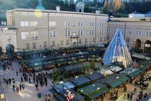 Der Salzburger Weihnachtsmarkt von oben