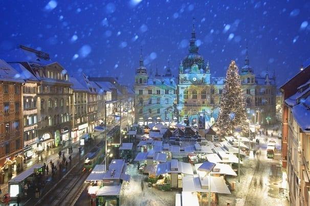 Projektion Rathaus in Graz