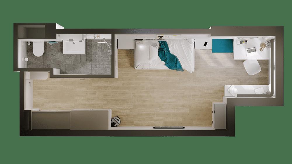 Raumplan Einzelzimmer