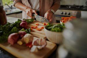 Zubereitung einer gesunden Mahlzeit